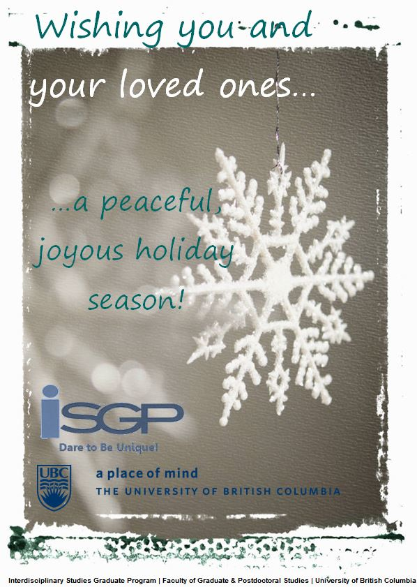 ISGP Holiday Greetings 2014